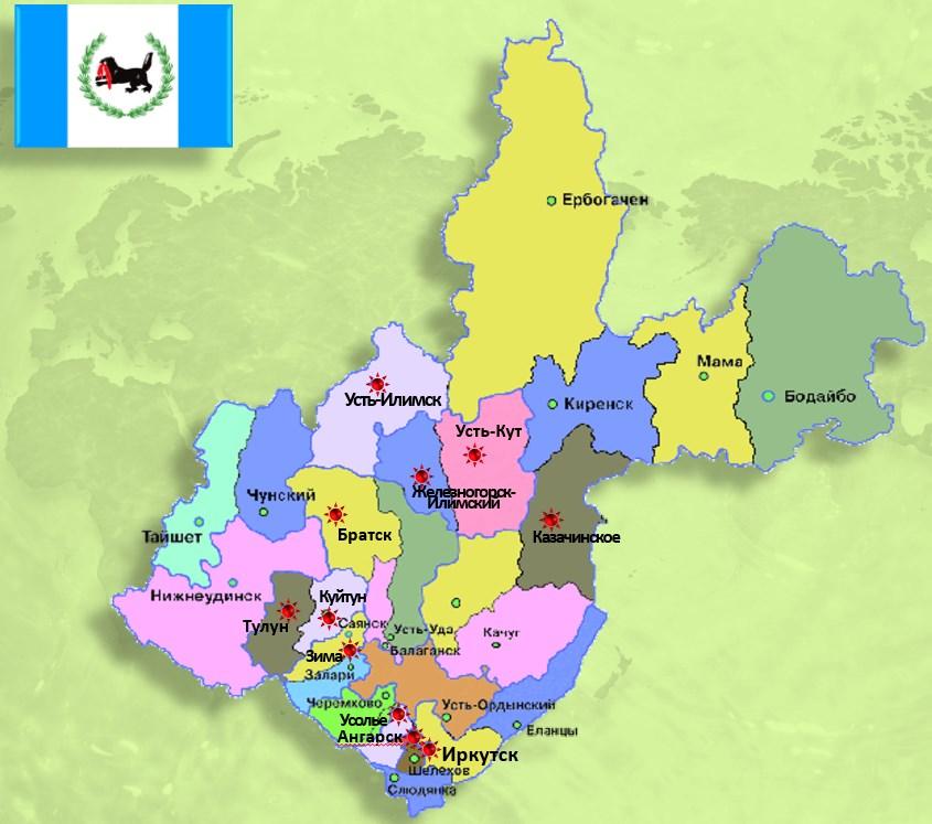 Карта стажировочных площадок
